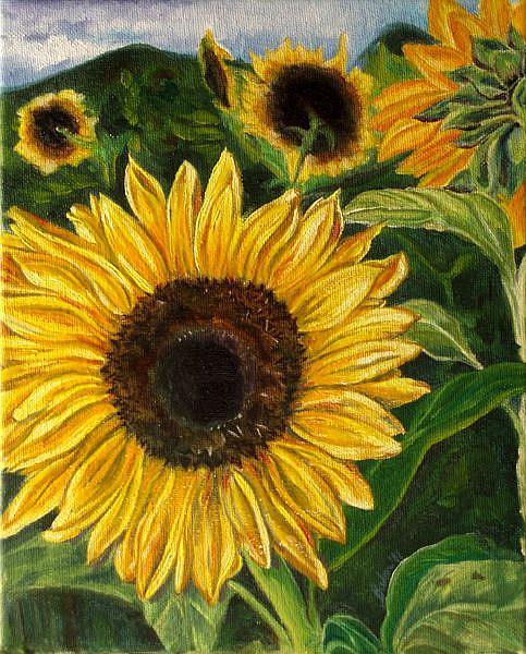Art: Sunflower by Artist Caroline Lassovszky Baker