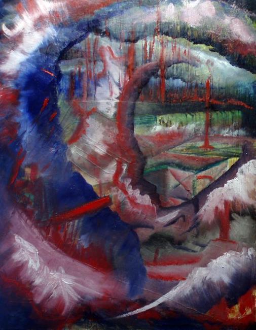 Art: Gantry by Artist Caroline Lassovszky Baker