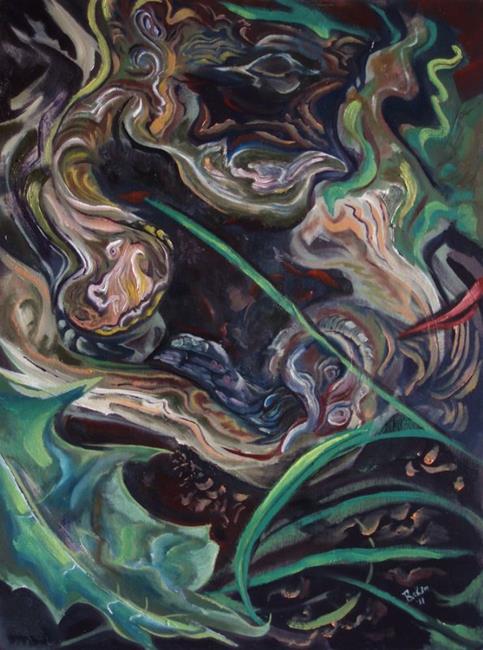 Art: Gyre by Artist Caroline Lassovszky Baker