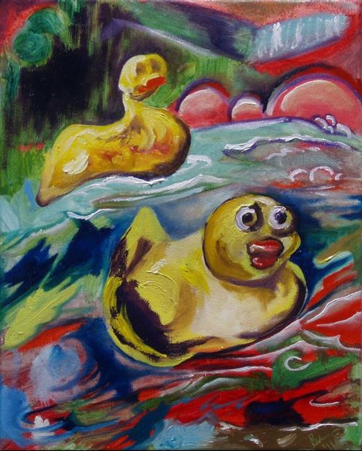 Art: Rubber Ducks and Tub Colors by Artist Caroline Lassovszky Baker