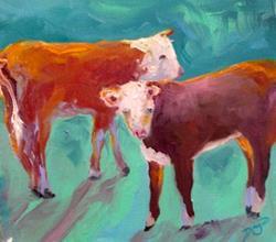 Art: cows by Artist Deborah Sprague