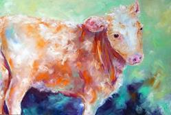 Art: Happy Cow by Artist Deborah Sprague