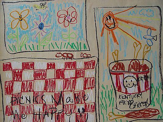 Art: Picnics make me happy! by Artist Kelli Ann Dubay