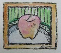 Art: An apple for the teacher.... by Artist Kelli Ann Dubay