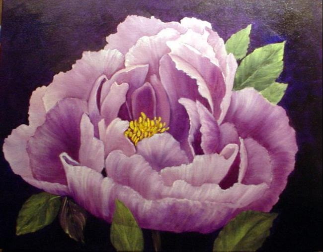 Art: Lavender Peony by Artist Barbara Haviland