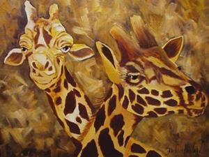 Detail Image for art Camouflage Giraffe Pair