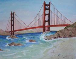 Art: Golden Gate Bridge by Artist Melanie Pruitt