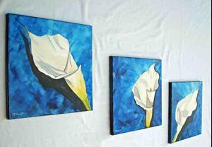 Detail Image for art Lily Tryptych