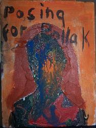 Art: Posing for Pollak by Artist Nancy Denommee