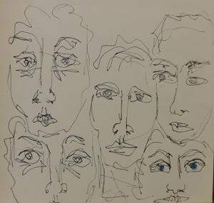 Detail Image for art faces in line