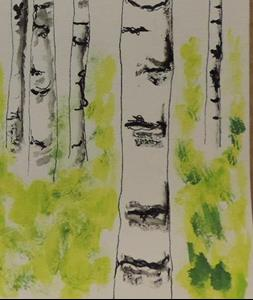 Detail Image for art silver birch