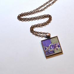 Art: Purple & Olive Abstract - Wearable Art by Artist Dana Marie