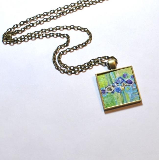 Art: Vibrant Green Abstract - Wearable Art ~ Sold by Artist Dana Marie