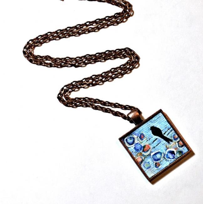 Art: Beginning Bird on a Wire ~ Original Wearable by Artist Dana Marie