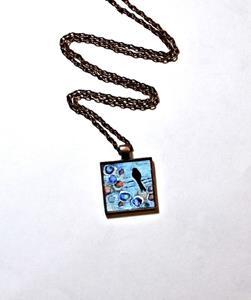 Detail Image for art Beginning Bird on a Wire ~ Original Wearable