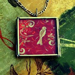 Art: Bliss ~ Glass Locket Pendant ~ SOLD by Artist Dana Marie