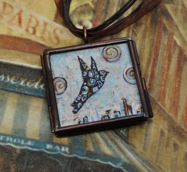 Art: Take Flight - Original Dana Marie Wearable Art by Artist Dana Marie