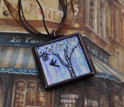 Art: A View of the Pastel City - Original Dana Marie Wearable Art by Artist Dana Marie