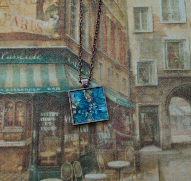 Art: Deep Turquoise Abstract - Original Wearable Art - SOLD by Artist Dana Marie