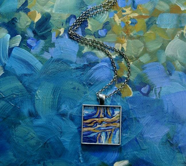 Art: Abstract Terrain - Original Dana Marie Wearable Art - Sold by Artist Dana Marie