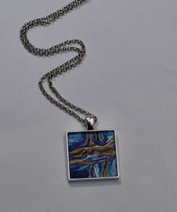 Detail Image for art Abstract Terrain - Original Dana Marie Wearable Art - Sold