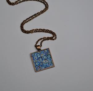 Detail Image for art Harvest Blue - Original Wearable Art - Sold