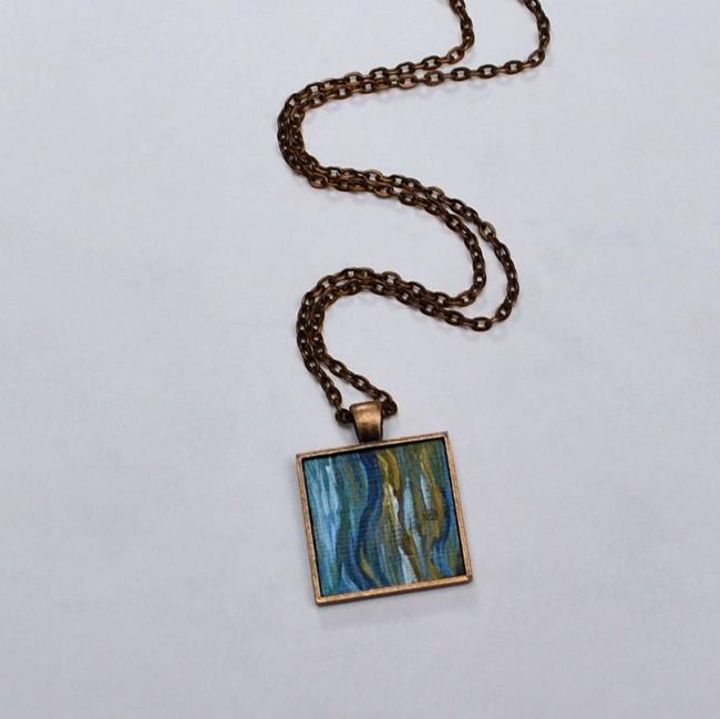 Art: Land and Sea Abstract - Wearable Art - Sold by Artist Dana Marie