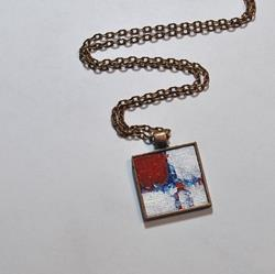 Art: Red and White Abstract - Original Wearable Art by Artist Dana Marie