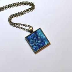 Art: Turquoise Abstract - Wearable Art by Artist Dana Marie