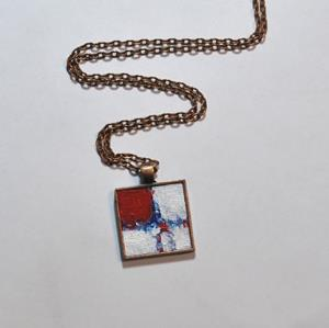 Detail Image for art Red White & Blue Abstract - Wearable Art ~ Sold
