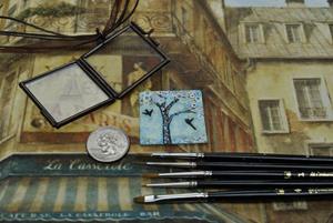 Detail Image for art Spring Break - Original Dana Marie Wearable Art - Sold