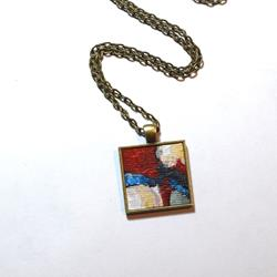 Art: Red Blue Yellow Abstract ~ Original Wearable Art by Artist Dana Marie