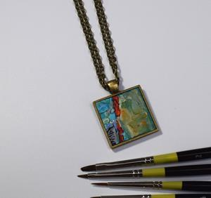 Detail Image for art Abstract Miniature Painting ~ Original Wearable Art (Sold)