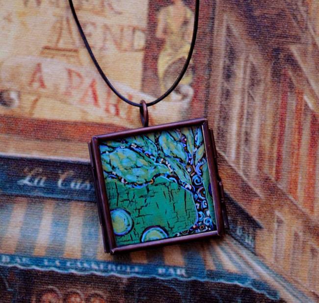Art: Going Green ~ Synergy Series ~ Original Wearable Art ~ Sold by Artist Dana Marie