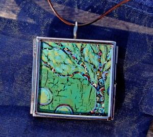 Detail Image for art Going Green ~ Synergy Series ~ Original Wearable Art ~ Sold