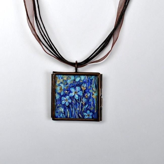 Art: Forget Me Not ~ Original Wearable Art - SOLD by Artist Dana Marie