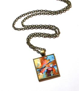 Detail Image for art August Sunset Abstract ~ Wearable Art