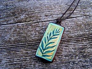 Detail Image for art <b>Fern Bamboo Pendant Necklace