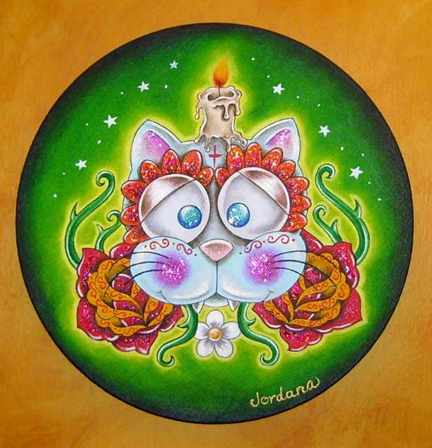 Art: Day of the dead cat by Artist Miss Moon