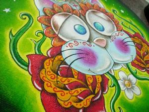 Detail Image for art Day of the dead cat