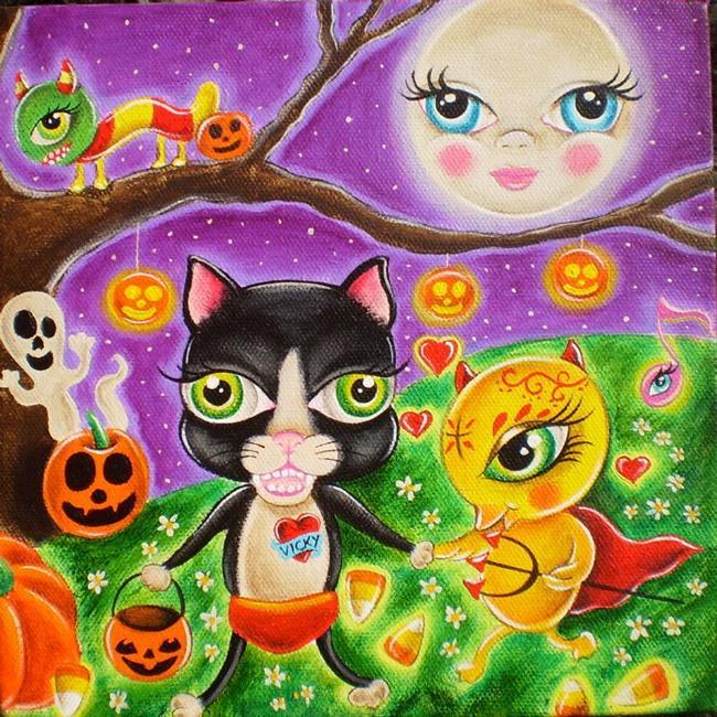 Art: Halloween in Wibbley by Artist Jordana
