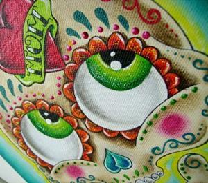 Detail Image for art Tattooed sugar skull