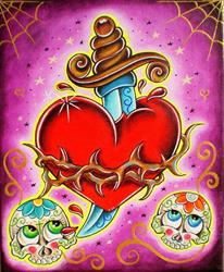 Art: Sacred sugar heart by Artist Jordana