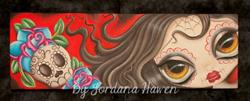 Art: Day of the dead girl by Artist Jordana Hawen