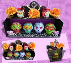Art: Sugar skull box by Artist Jordana