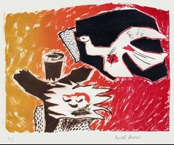Art: Homage to Braque by Artist Muriel Areno