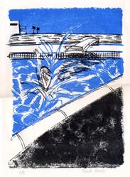 Art: California Pool II by Artist Muriel Areno