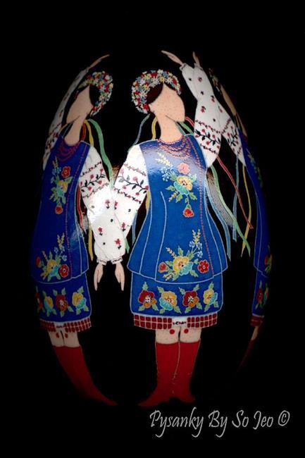 Art: Ukrainian Dancers by Artist So Jeo LeBlond