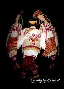 Detail Image for art Hutzul Dancers Pysanka Pysanky Ukrainian Easter Egg