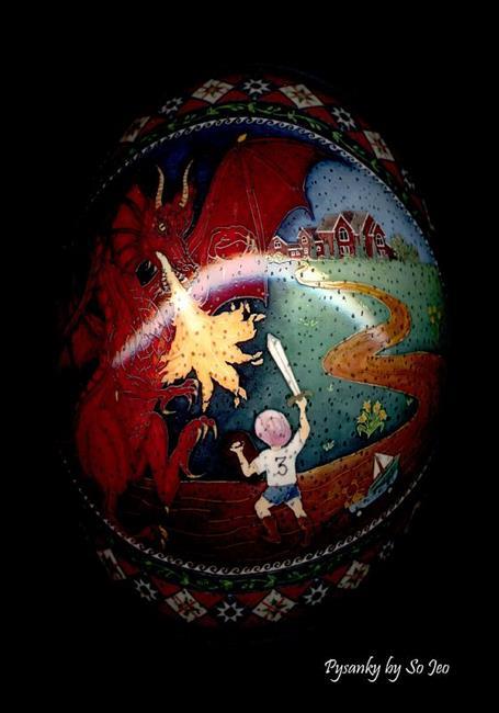 Art: Zayde Fights the Dragon by Artist So Jeo LeBlond